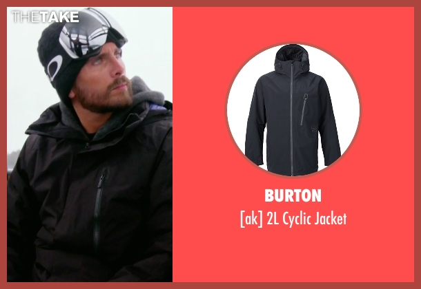 Burton  black jacket from Keeping Up With The Kardashians seen with Scott Disick