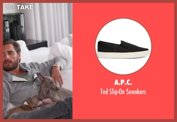 A.P.C. black sneakers from Keeping Up With The Kardashians seen with Scott Disick