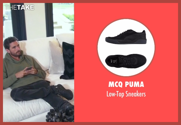 MCQ Puma black sneakers from Keeping Up With The Kardashians seen with Scott Disick