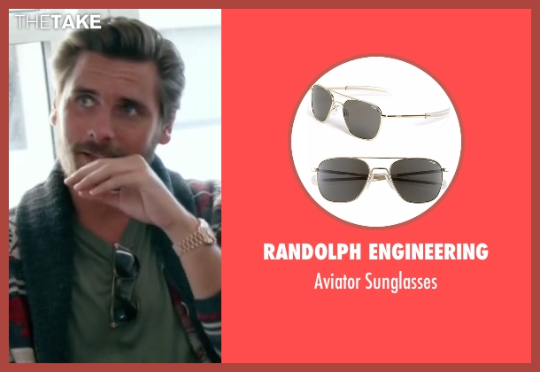 Randolph Engineering black sunglasses from Keeping Up With The Kardashians seen with Scott Disick