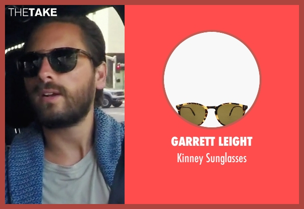 Garrett Leight black sunglasses from Keeping Up With The Kardashians seen with Scott Disick