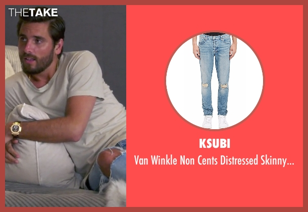 Ksubi blue jeans from Keeping Up With The Kardashians seen with Scott Disick