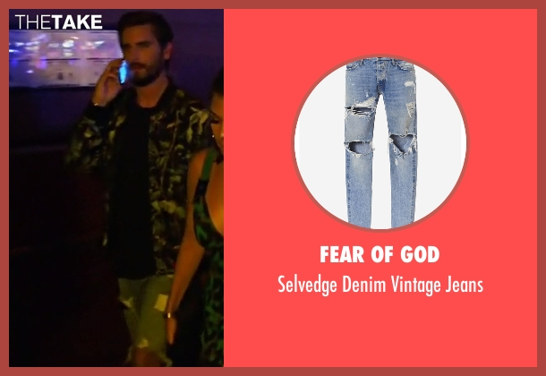 Fear Of God blue jeans from Keeping Up With The Kardashians seen with Scott Disick
