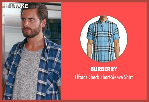 Burberry blue shirt from Keeping Up With The Kardashians seen with Scott Disick