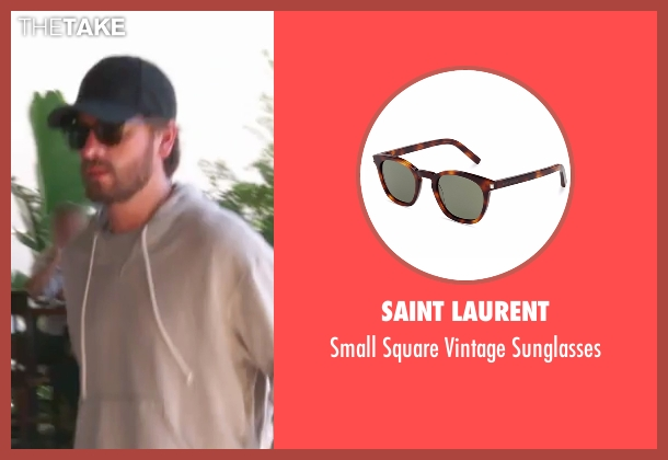 Ermenegildo Zegna brown sunglasses from Keeping Up With The Kardashians seen with Scott Disick
