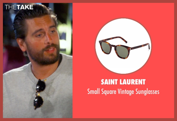 Saint Laurent brown sunglasses from Keeping Up With The Kardashians seen with Scott Disick