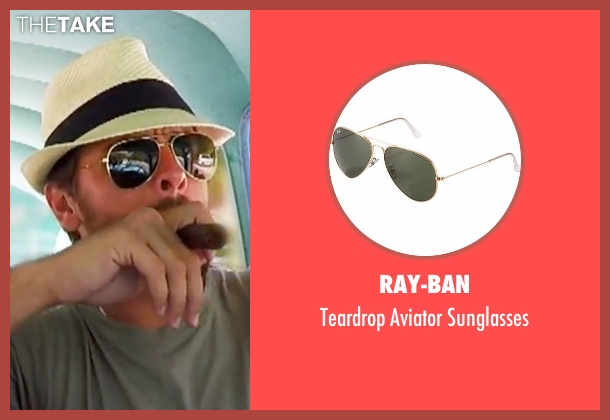 Ray-Ban gold sunglasses from Keeping Up With The Kardashians seen with Scott Disick