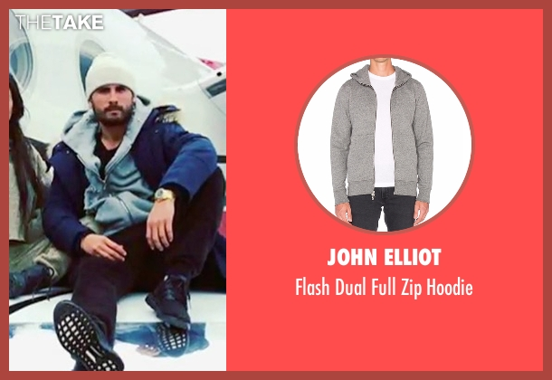 John Elliot gray hoodie from Keeping Up With The Kardashians seen with Scott Disick