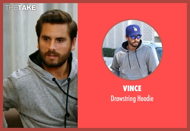 Vince gray hoodie from Keeping Up With The Kardashians seen with Scott Disick