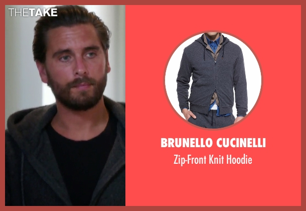 Brunello Cucinelli gray hoodie from Keeping Up With The Kardashians seen with Scott Disick