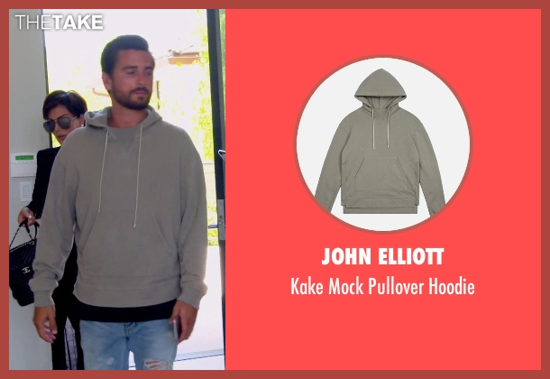 John Elliott gray hoodie from Keeping Up With The Kardashians seen with Scott Disick