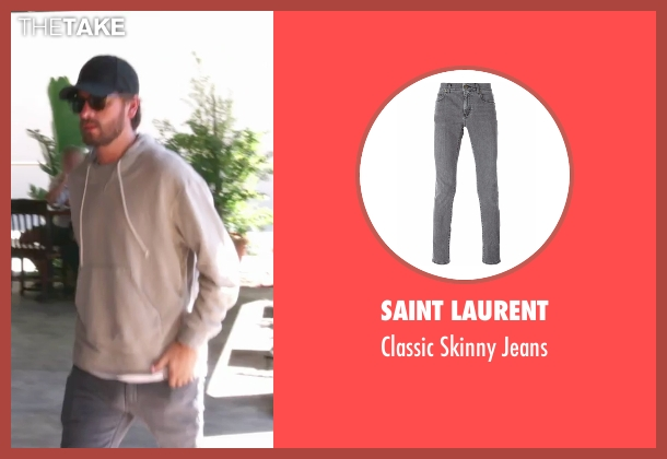 Saint Laurent gray jeans from Keeping Up With The Kardashians seen with Scott Disick