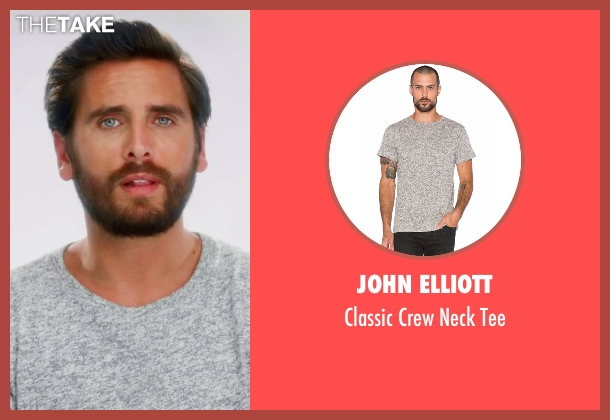 John Elliott  gray tee from Keeping Up With The Kardashians seen with Scott Disick