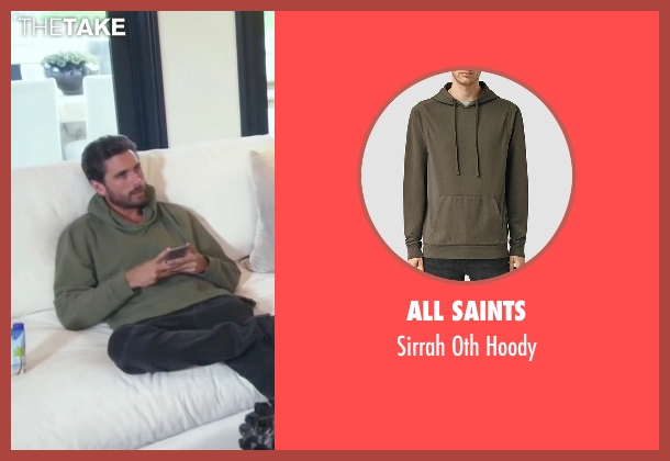 All Saints green hoody from Keeping Up With The Kardashians seen with Scott Disick