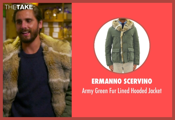 Ermanno Scervino green jacket from Keeping Up With The Kardashians seen with Scott Disick
