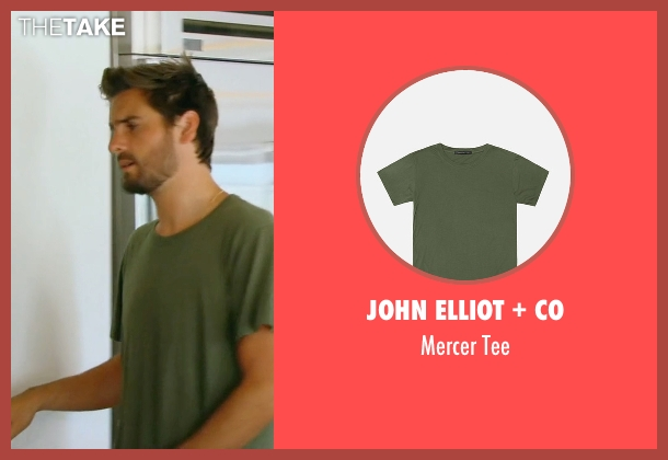 John Elliot + Co green tee from Keeping Up With The Kardashians seen with Scott Disick