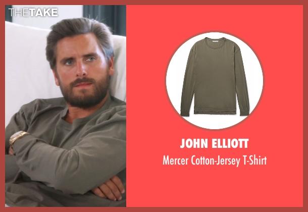 John Elliott green t-shirt from Keeping Up With The Kardashians seen with Scott Disick