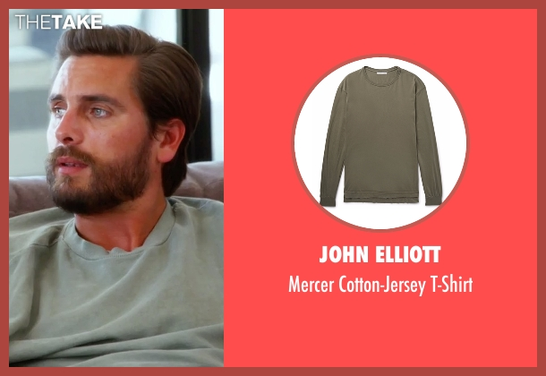 John Elliott t-shirt from Keeping Up With The Kardashians seen with Scott Disick