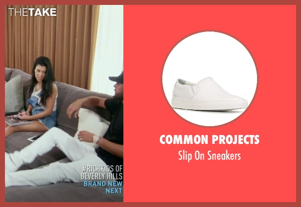 Common Projects white sneakers from Keeping Up With The Kardashians seen with Scott Disick