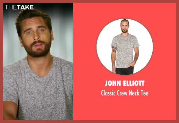 John Elliott gray tee from Rob & Chyna seen with Scott Disick