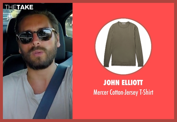 John Elliott t-shirt from Rob & Chyna seen with Scott Disick