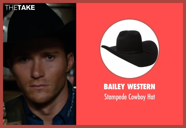 Bailey Western black hat from The Longest Ride seen with Scott Eastwood (Luke Collins)