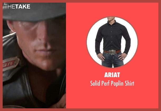 Ariat black shirt from The Longest Ride seen with Scott Eastwood (Luke Collins)