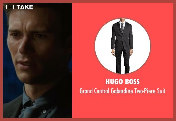 Hugo Boss black suit from The Longest Ride seen with Scott Eastwood (Luke Collins)