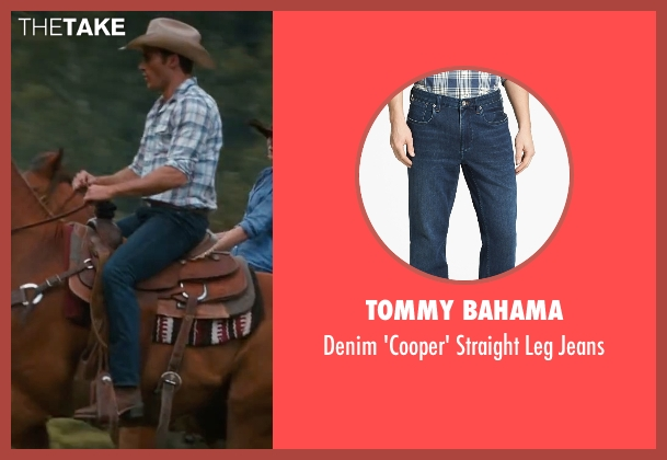 Tommy Bahama blue jeans from The Longest Ride seen with Scott Eastwood (Luke Collins)