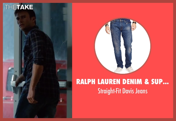 Ralph Lauren Denim & Supply blue jeans from The Longest Ride seen with Scott Eastwood (Luke Collins)
