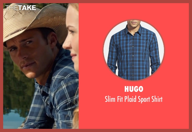 Hugo blue shirt from The Longest Ride seen with Scott Eastwood (Luke Collins)