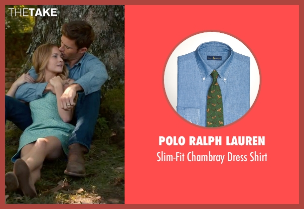 Polo Ralph Lauren blue shirt from The Longest Ride seen with Scott Eastwood (Luke Collins)