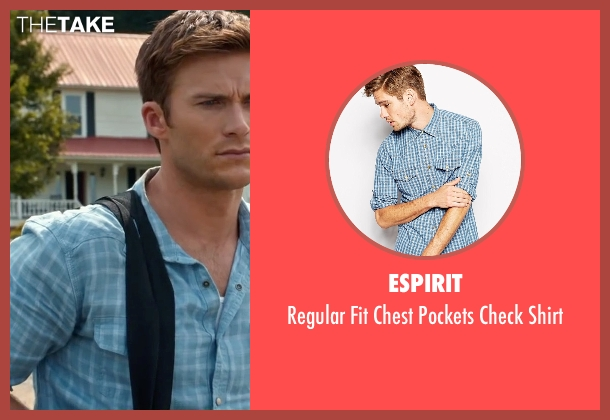 Espirit blue shirt from The Longest Ride seen with Scott Eastwood
