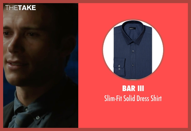 Bar III blue shirt from The Longest Ride seen with Scott Eastwood (Luke Collins)