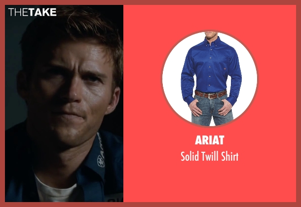 Ariat blue shirt from The Longest Ride seen with Scott Eastwood (Luke Collins)