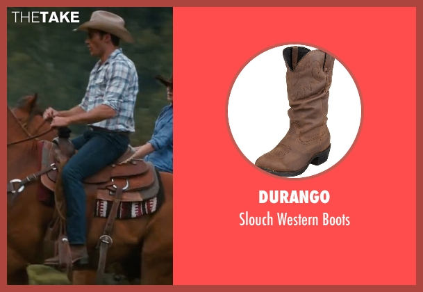 Durango brown boots from The Longest Ride seen with Scott Eastwood (Luke Collins)