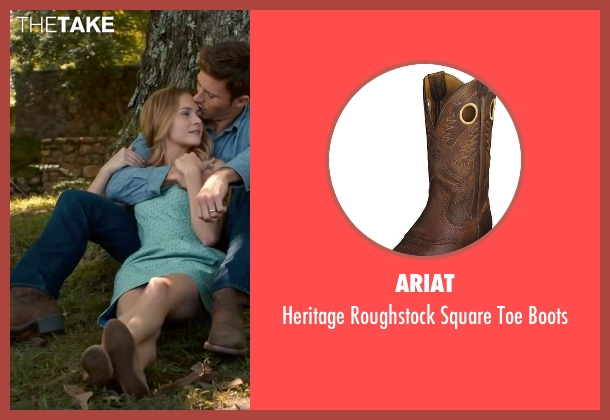 Ariat brown boots from The Longest Ride seen with Scott Eastwood (Luke Collins)