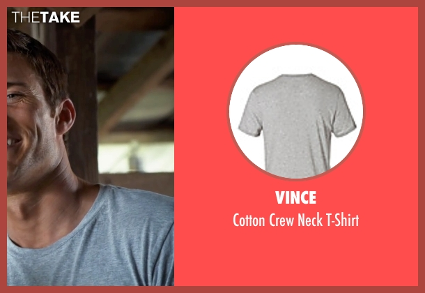 Vince gray t-shirt from The Longest Ride seen with Scott Eastwood (Luke Collins)