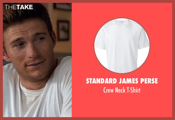 Standard James Perse white t-shirt from The Longest Ride seen with Scott Eastwood (Luke Collins)