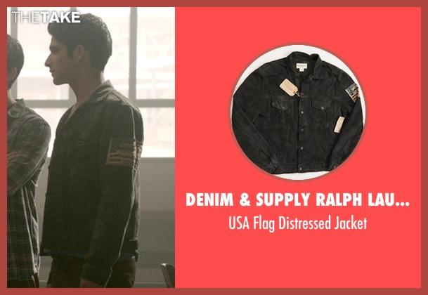 Denim & Supply Ralph Lauren black jacket from Teen Wolf seen with Scott McCall (Tyler Posey)