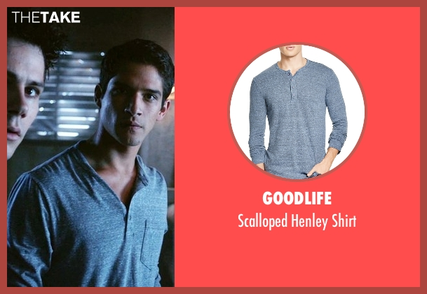 Goodlife blue shirt from Teen Wolf seen with Scott McCall (Tyler Posey)