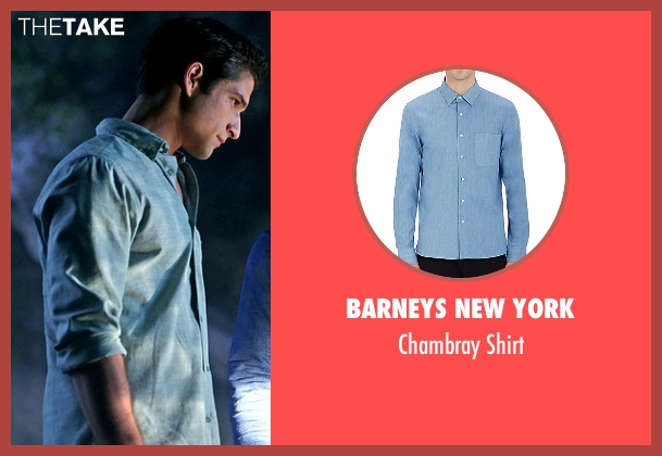 Barneys New York gray shirt from Teen Wolf seen with Scott McCall (Tyler Posey)