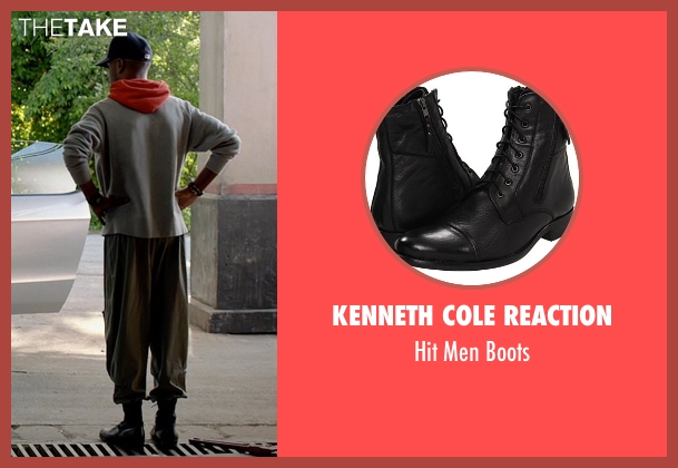 Kenneth Cole Reaction black boots from Need for Speed seen with Scott Mescudi (Benny)