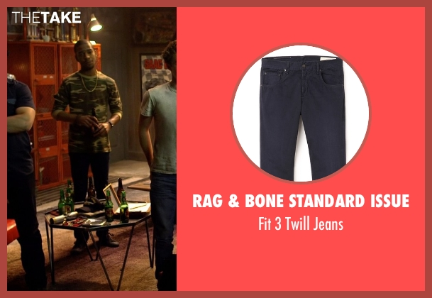 Rag & Bone Standard Issue blue jeans from Need for Speed seen with Scott Mescudi (Benny)
