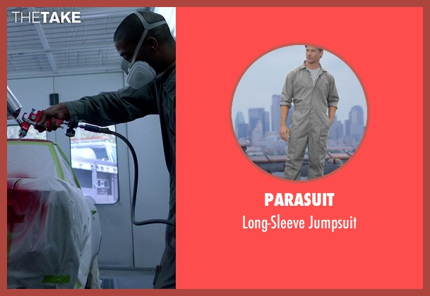 Parasuit gray jumpsuit from Need for Speed seen with Scott Mescudi (Benny)