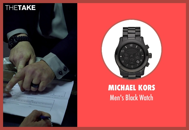 Michael Kors black watch from Need for Speed seen with Scott Oakley (Discharging NY Prison Guard)