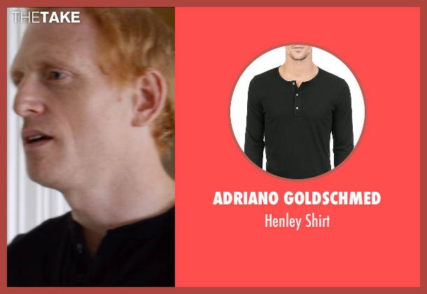 Adriano GoldSchmed black shirt from And So It Goes seen with Scott Shepherd