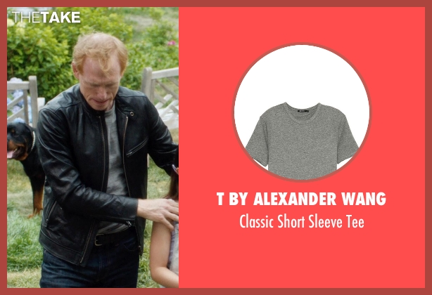 T by Alexander Wang gray tee from And So It Goes seen with Scott Shepherd (Unknown Character)