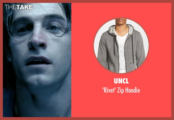 UNCL gray hoodie from Underworld seen with Scott Speedman (Michael Corvin)