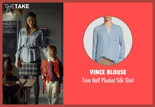 Vince Blouse blue shirt from Before I Wake seen with Scottie Thompson (Teacher)